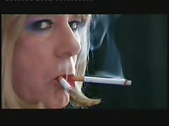 T-Girl Samantha is made to smoke two