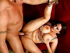 Scorching hot Ava Lauren getting her twat cracked by a monster cock