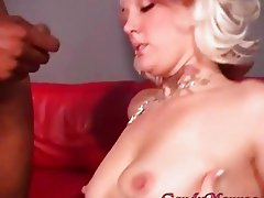 Candy Monroe has her tits covered in cum