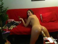 Angelica Saige doggie style webcam sex machine