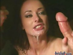 These sluts get messy wet facials