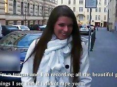 Big juggs amateur Mona stuffed in public