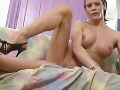 Shemale Fernanda Masturbates