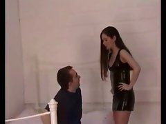 Leather clad goddess facesit interrogation
