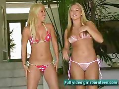Alison and Lia fun blonde girl