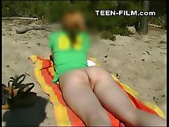 teen naked at beach