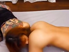 Japanese tatooed whore anal penetrated