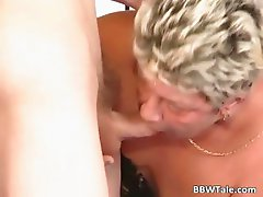 Chubby blonde hoe with big boobs sucking part5