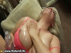 Thick  with big natural tits fucking