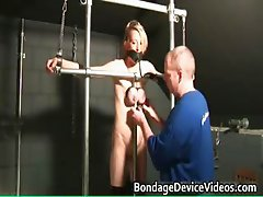 Hot blond MILF horny babe gets bondage part6