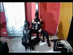 Girl slave gets punished by a domina