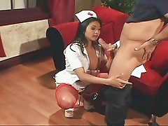 Asian nurse fucking with anal