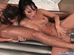 Awesome babes suck hard rod part1