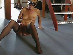 Mature milf mom hairy blond casting stockings amateur