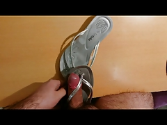 Fuck and cum flip flops bought on ebay