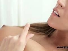 Blonde lesbo lusting for orgasm get cunt licked