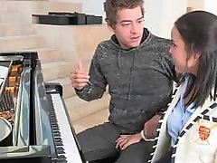 Lovely teen fucked by her piano teacher