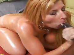 Scorching whore Sara Jay whacks her hot mouth with an awesome blackzilla