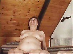Hot Mature Woman Having Sex On Couch  Enjoying a Good Screw up...Wear-Tweed