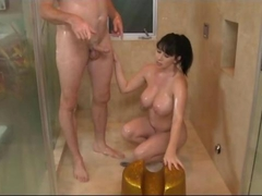 Nuru Massage Fuck with Big Tits MILF Rayveness