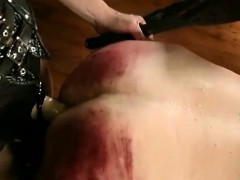 guy gets his red spanked ass fucked