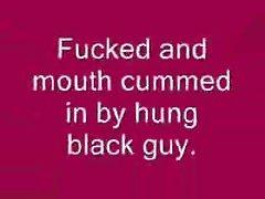 uk tranny gets mouth cummed in