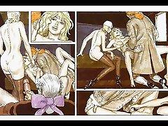 Lesbian mistress beats giant breast slave