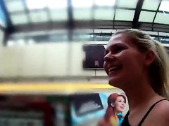 Stellar czech teen is seduced in the mall and plowed in pov