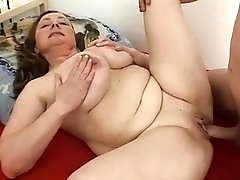 MomsWithBoys  Fat Stepmama Rides Sons Cock In He