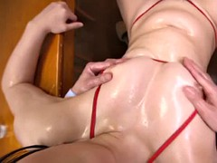 oiling his asian hotness egami shiho and drilling her pussy