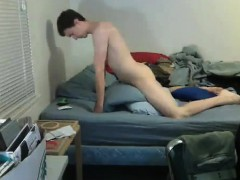 Sweet guy fucks cushion