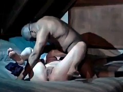 Secret tapes cuckolds sissy husband with his wife bull