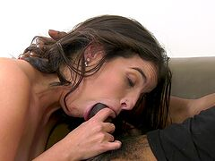 Bitch loads both her tight holes with heavy duty cock