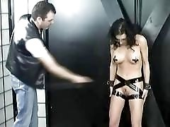 Extreme painful fetish punishment in the sex dungeon BDSM porn