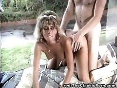 Wild group orgy on retro movie