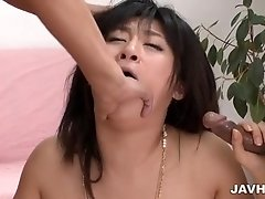 Nasty Kyoka gets her pussy fisted and tagged teamed