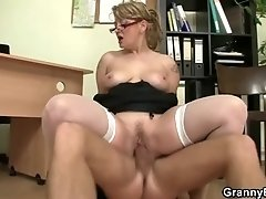 Gorgeous babe nailed at the office