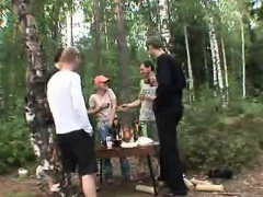 Russian orgy in the forest