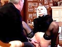 Submissive slut gets dominated hard by freaky master BDSM porn