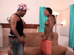 Sexy ebony babe who's just crazy for Shorty's big dick and