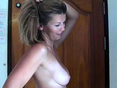 Buxom milf buries a dildo in her ass and a cock in her pussy
