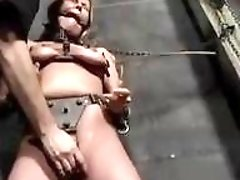 Little lusty bitch Emily dominated by maledom master BDSM porn