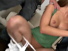 slutty bitch gets her assholed stuffed with cock
