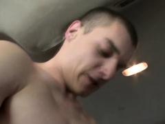 Straight dude rams ass