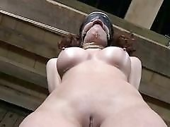 Buxom Crystal Frost tied up and left in mud BDSM
