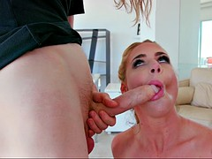 phoenix marie sucks her stepson's long sausage in the air