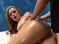 Teen love tunnel of girlie is drilled by hard giant cock