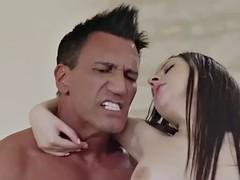 italian-spanish duet of hot babes nekane and rebecca volpetti in ffm 3way