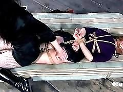 Exquisite redhead slut loves humiliation while completely in tight robes