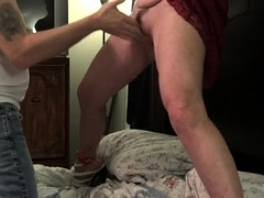 Sexy mature wife gets her hairy slit eaten out and fingered